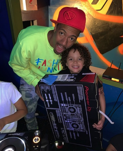 nick cannon shares photo of moroccan's birthday