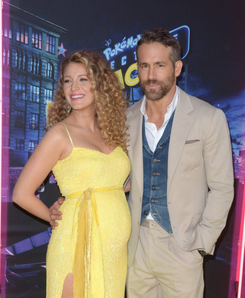 Blake Lively debuts baby bump at Pokemon premiere.