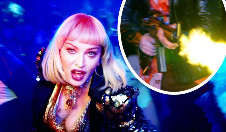 Whoa Madonnas New Music Video Shocks With Graphic Mass Shooter Scene - Perez Hilton-8747