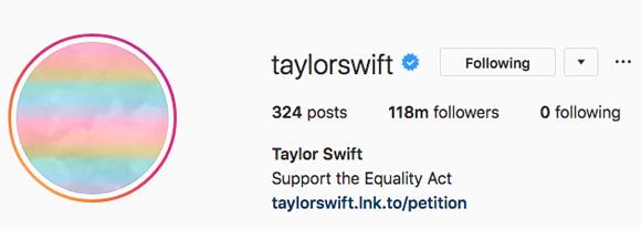 Taylor Swift Instagram Follows