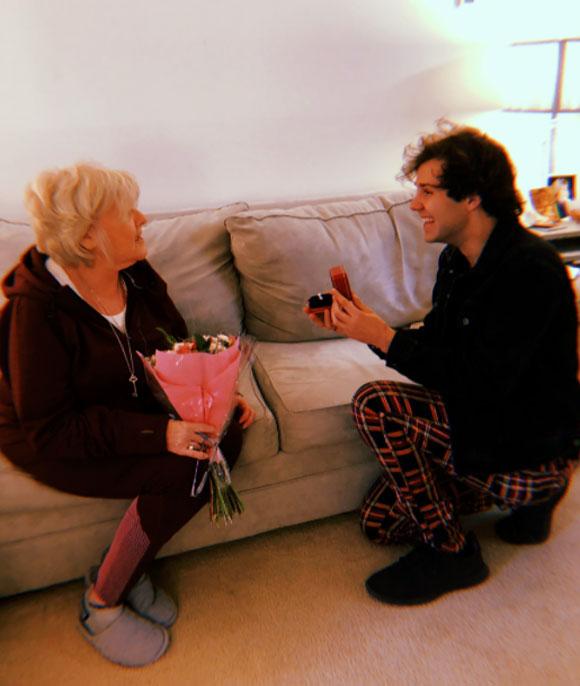 David Dobrik proposes to Lorraine Nash!