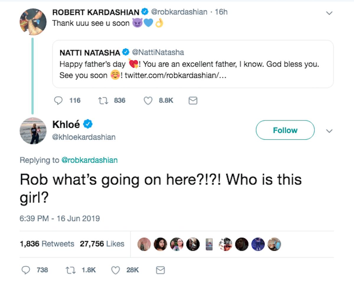 Khloe Kardashian Rob Kardashian Tweet Flirting