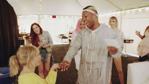 Taylor totally surprises Todrick Hall!