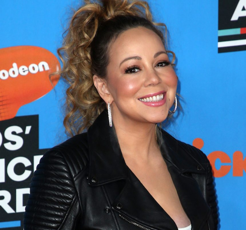 Mariah Carey adds an interesting twist to the Bottle Cap Challenge