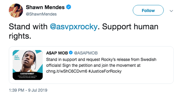 Over 370000 sign petition to release rapper A$AP Rocky