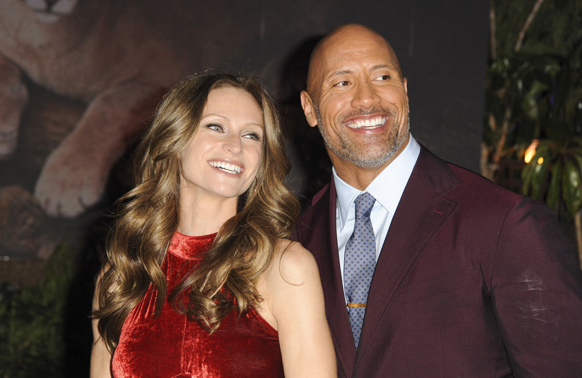 The Rock and Lauren at the 'Jumanji' Premiere