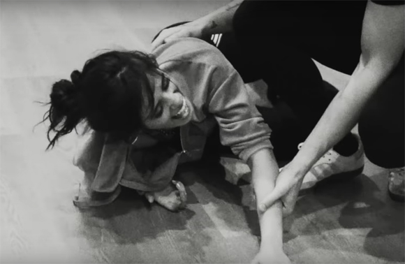 Camila Cabello falls while rehearsing with Shawn Mendes.