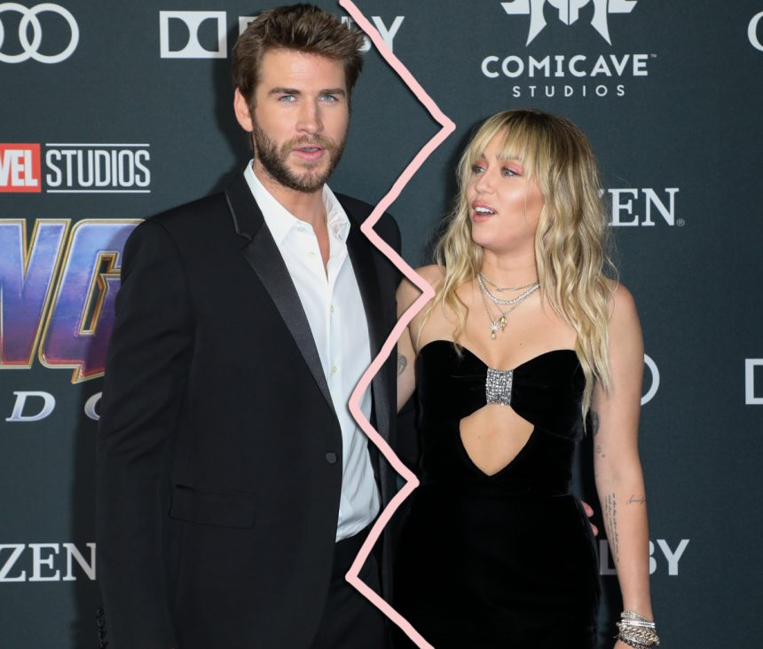 Miley Cyrus & Liam Hemsworth Split After Less Than One Year Of