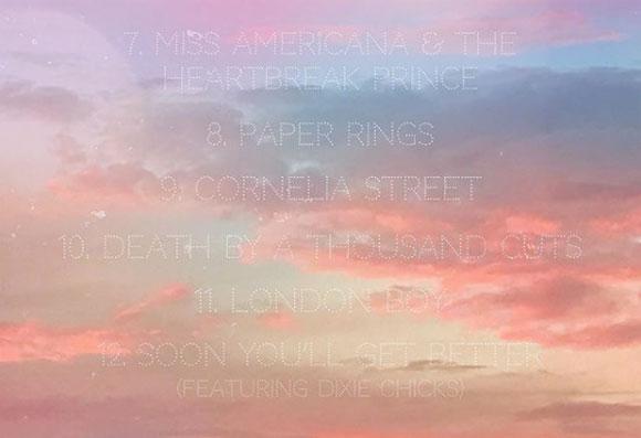 Taylor Swift's tracklist!