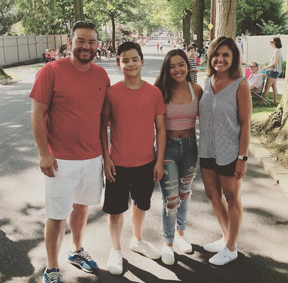 Jon Gosselin with Collin and Hannah on the Fourth of July