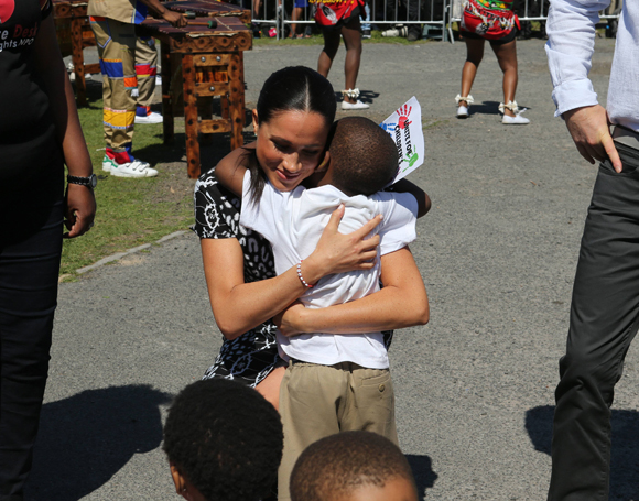 Meghan Markle in South Africa on Monday