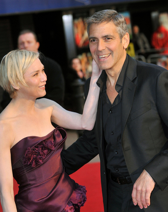 Renee Zellweger Raises Questions With 'Being The Ex-Girlfriend' Of A Gay Man Comment Renee-Zellweger-and-George-Clooney-in-2008