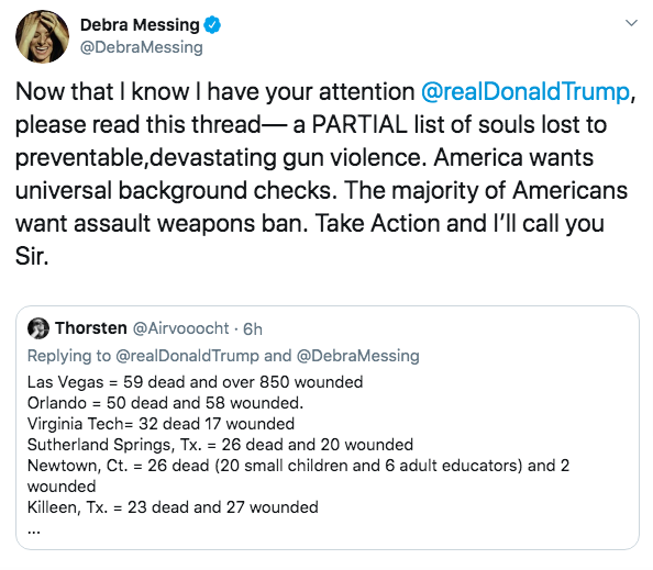 Debra Messing & Donald Trump Duke It Out On Twitter Over