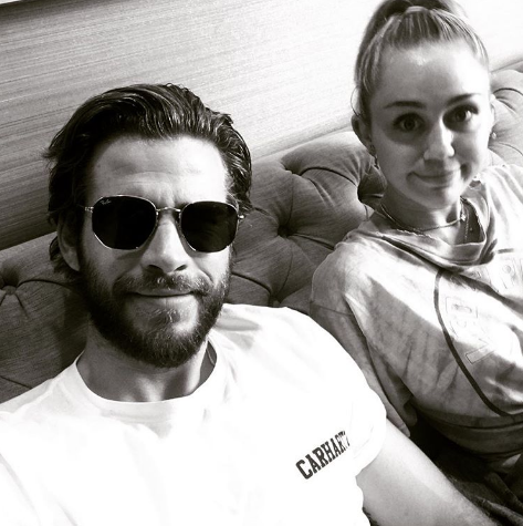 miley cyrus liam hemsworth angel instagram