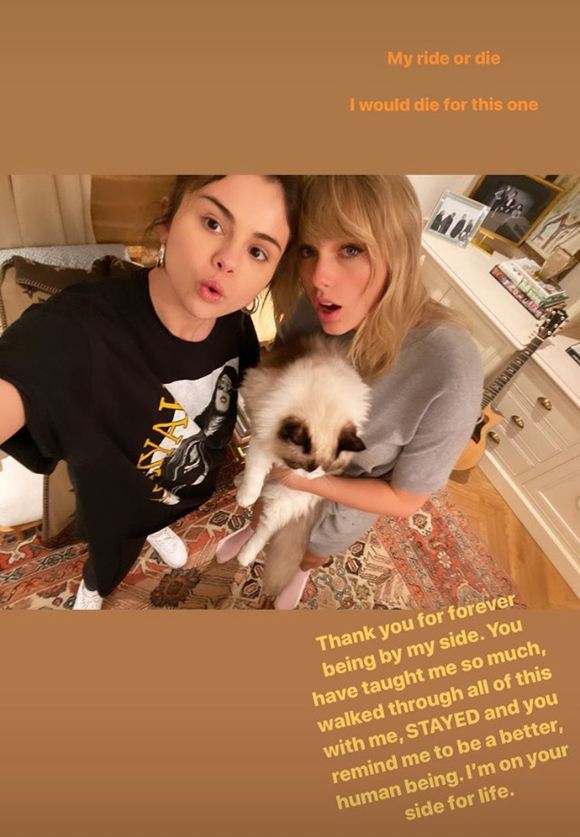 Selena Gomez and Taylor Swift Instagram Story