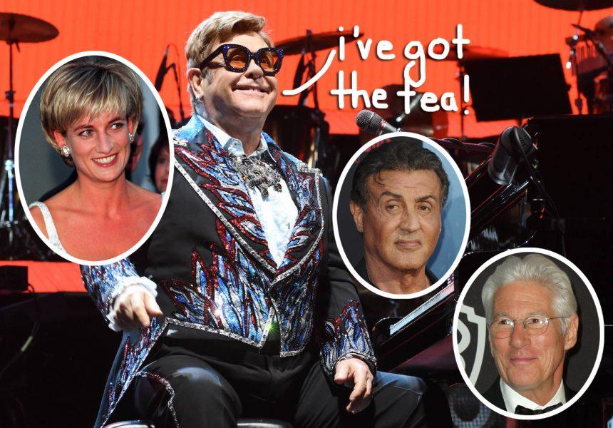 Elton John Spills HOT 90s TEA About Princess Diana, Richard Gere, & Sylvester Stallone!