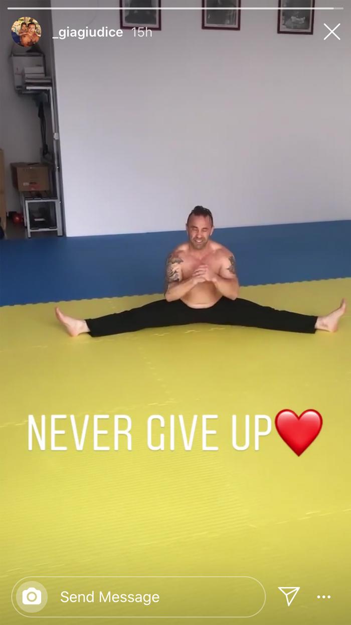 Joe Giudice training martial arts video