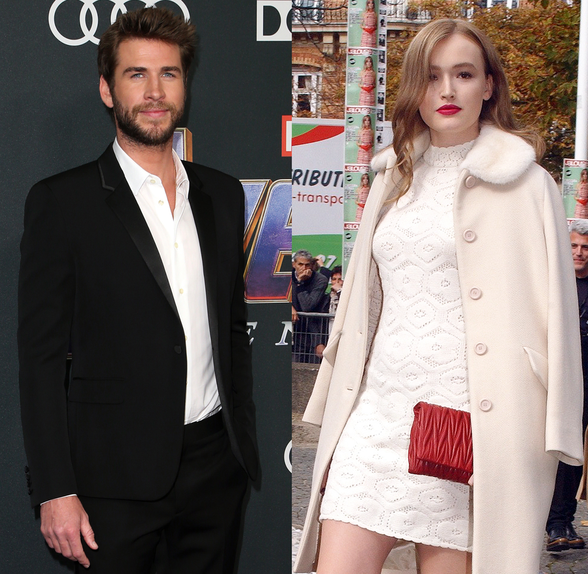 Liam Hemsworth Maddison Brown holding hands NYC