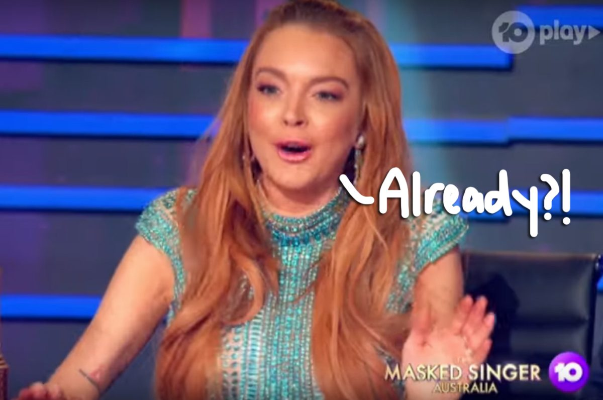 Lindsay Lohan Reportedly Getting Fired From 'The Masked Singer Australia' Over Diva Behavior, Feud