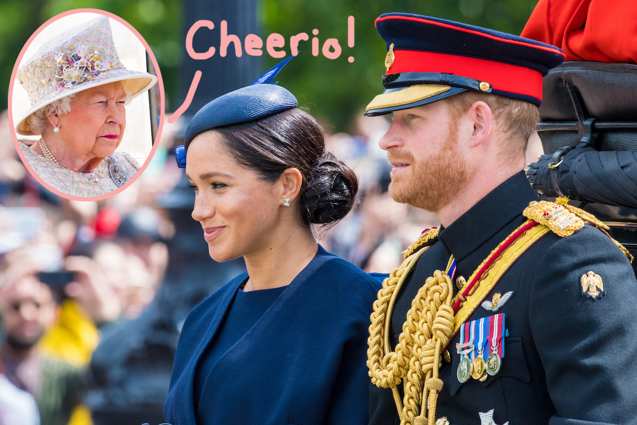 queen elizabeth reportedly delighted over meghan markle prince harry possibly wanting to leave the royal family after documentary fallout perez hilton queen elizabeth reportedly delighted over meghan markle prince harry possibly wanting to leave the royal family after documentary fallout perez hilton