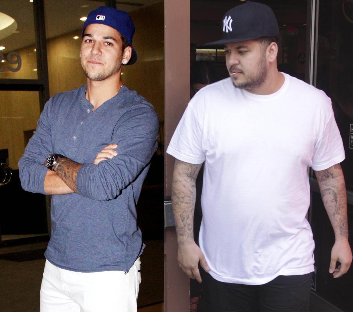 Rob Kardashian body transformations