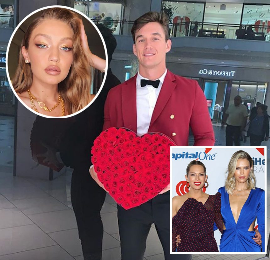 Tyler Cameron Hangs With Gigi Hadid's Former Stepsisters