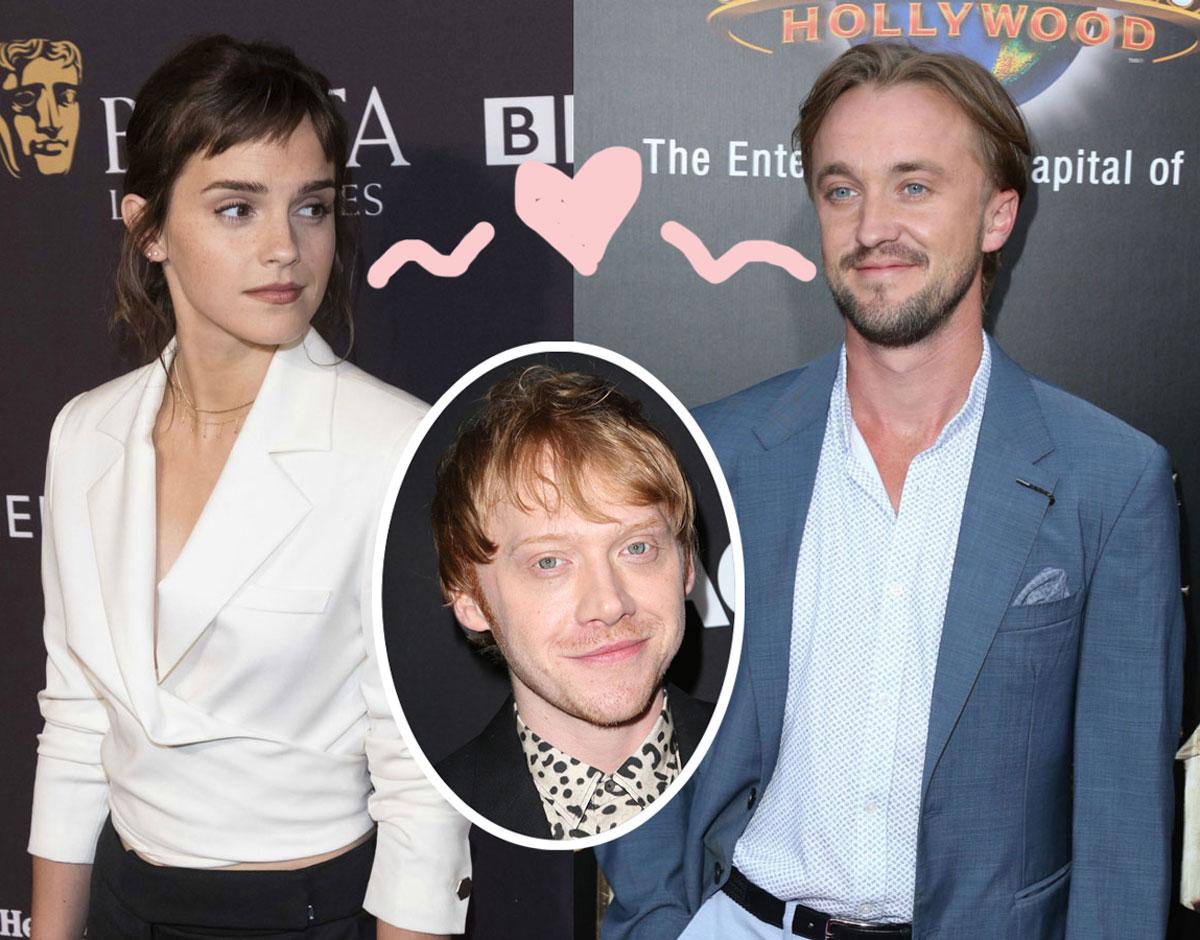 Rupert Grint Says Harry Potter Costars Emma Watson Tom Felton Always Had Sparks As The Pair Fuels Dating Rumors Perez Hilton