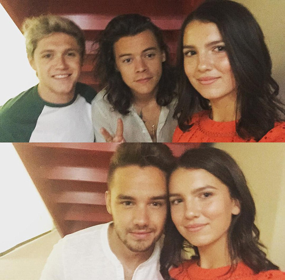 Maya Henry with One Direction 2016