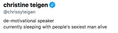chrissy teigen twitter bio update
