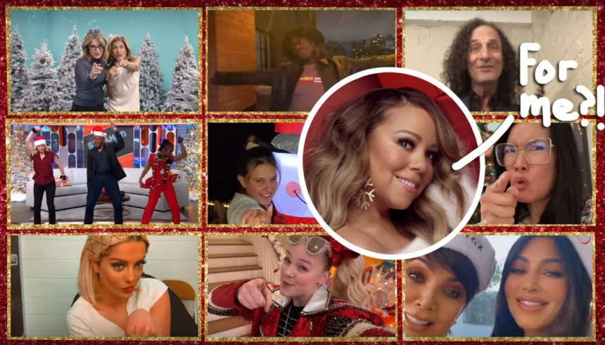 Image result for ariana grande and mariah carey all i want for christmas is you