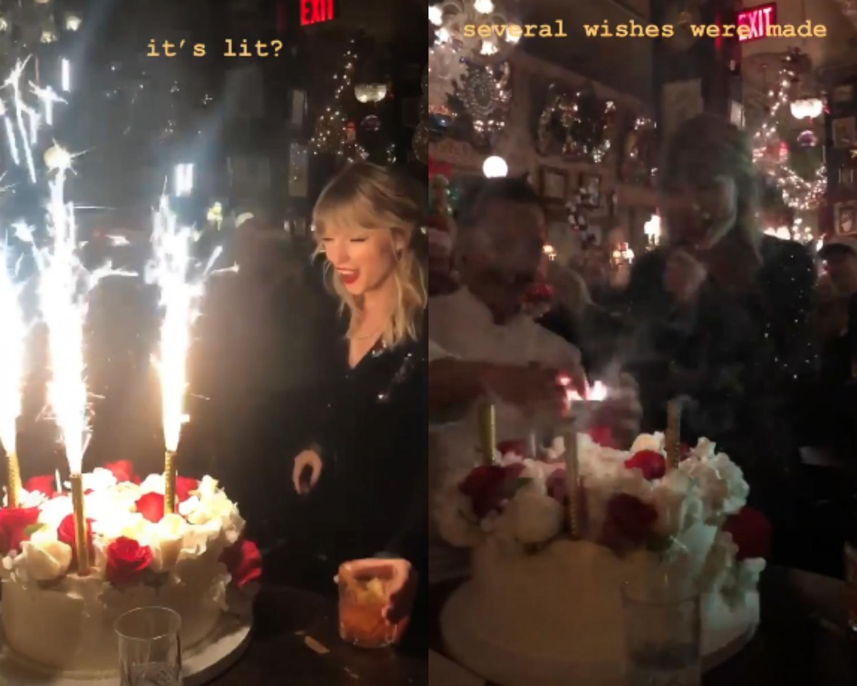 Strange Taylor Swift Rings In 30 With A Festive Star Studded Bash Funny Birthday Cards Online Inifodamsfinfo