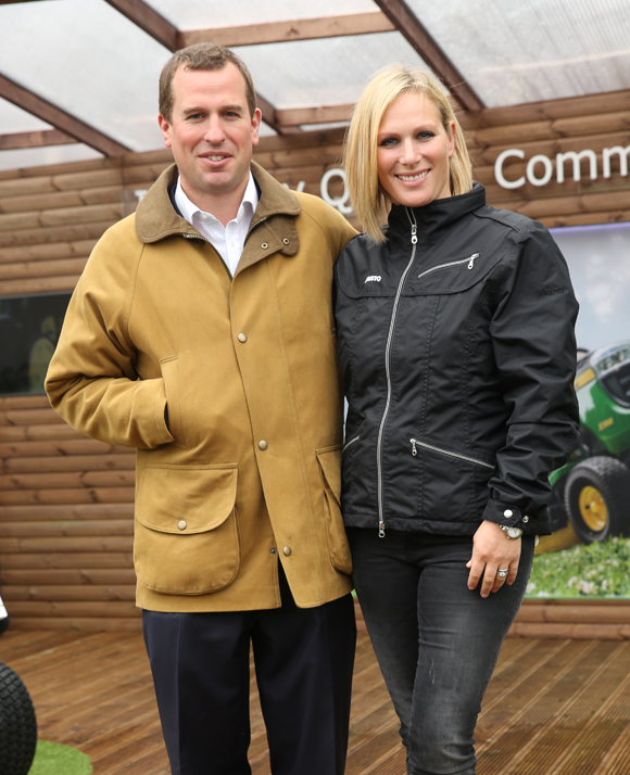 Peter and Zara Phillips