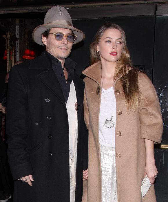Johnny Depp and Amber Heard in April 2014