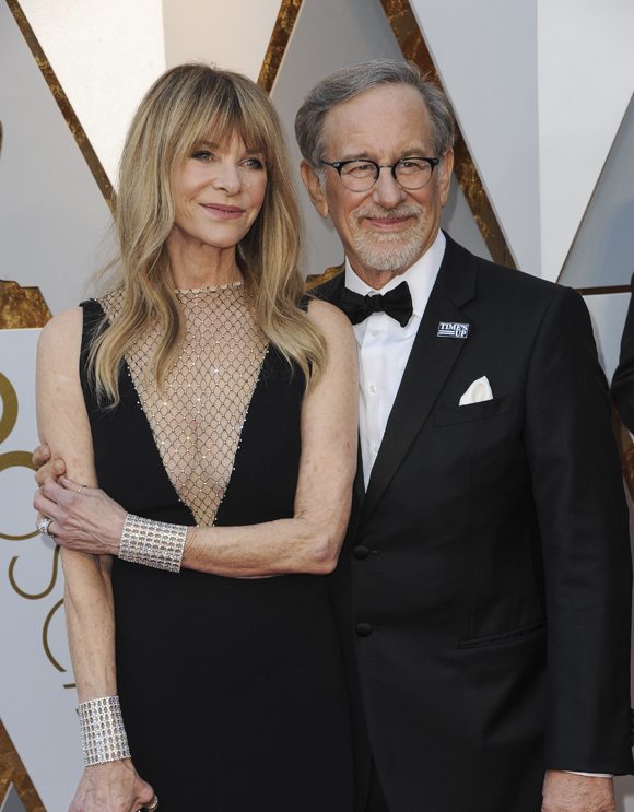 Steven Spielberg and Kate Capshaw at the 2018 Oscars