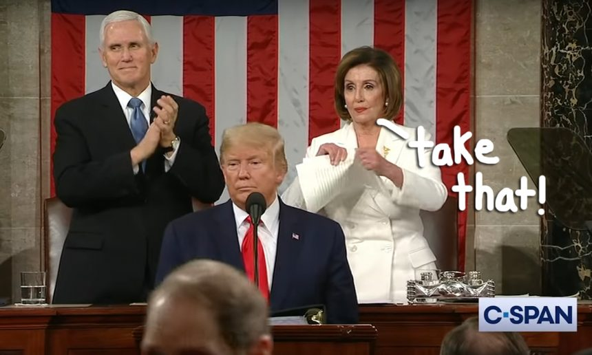 Nancy Pelosi Tore Up Donald Trumps SOTU Address...
