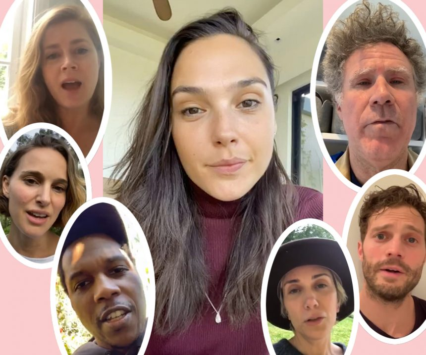 Gal Gadot Gathered Celebs To Sing From Quarantine - And People ...