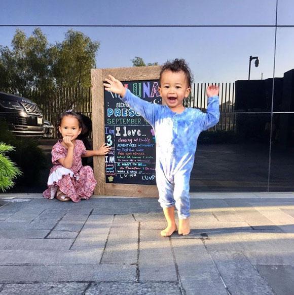 Chrissy Teigen and John Legend's two children, Luna and Miles.