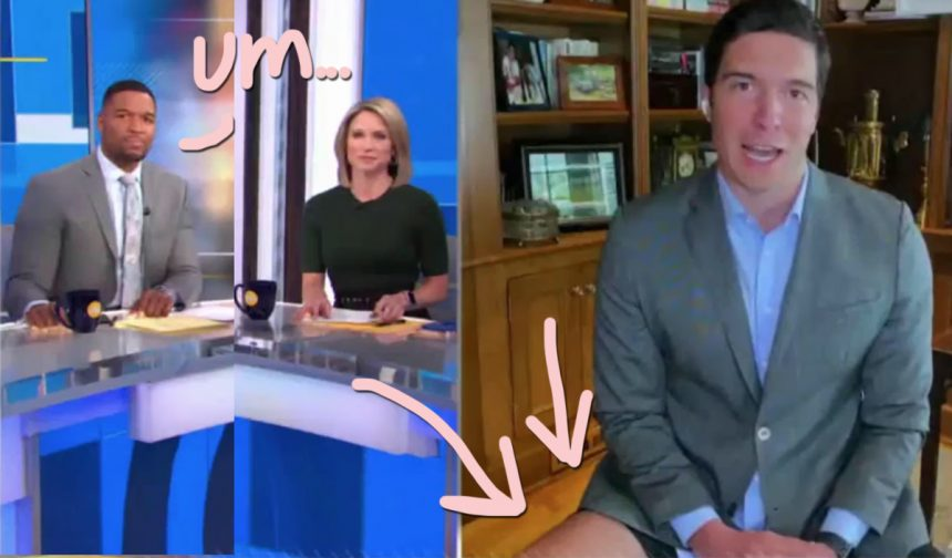 GMA Reporter Caught Wearing NO PANTS During Video Chat Segment ...