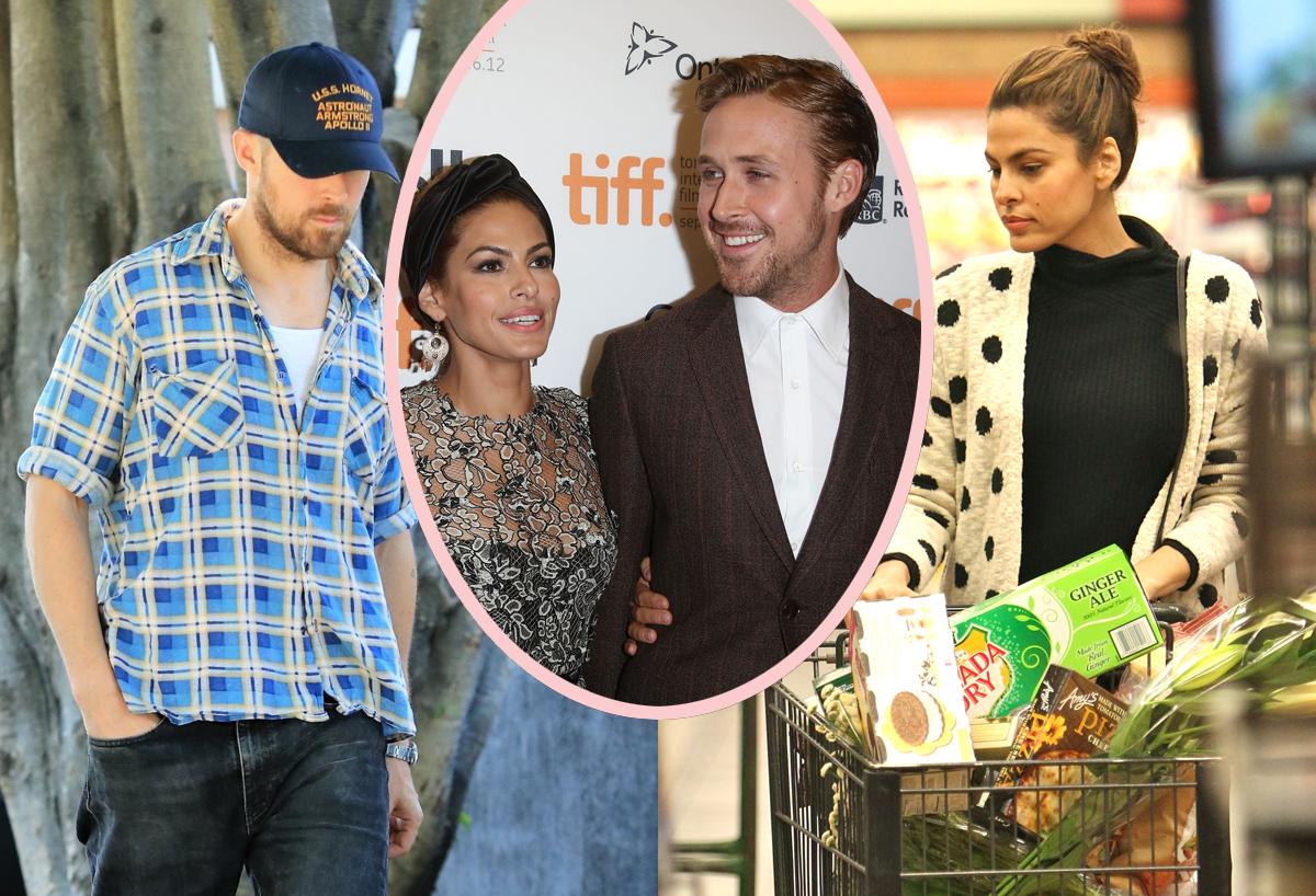 No Nannies Inside Ryan Gosling Eva Mendes Down To Earth Home Life Perez Hilton