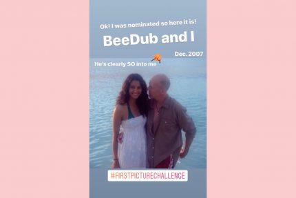 Emma hemming Bruce Willis first picture challenge ig