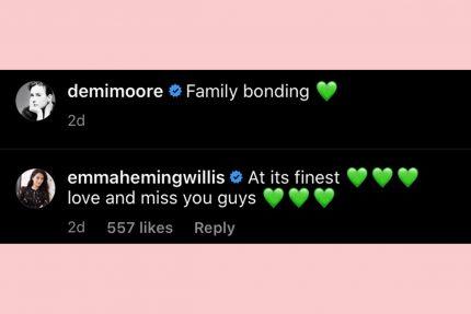 Emma hemming responds demi Moore ig comment