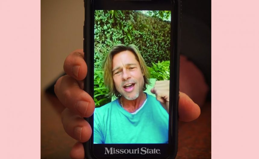 Watch Brad Pitt Surprise The Missouri State Graduating Class With Video Message!