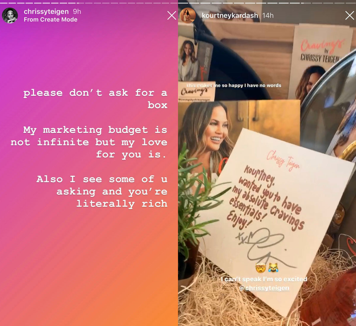 Chrissy Teigen wants her friends to stop asking for free PR boxes
