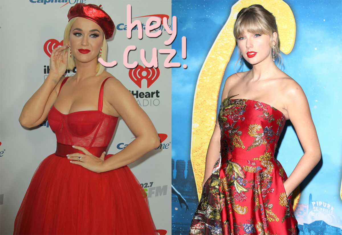 Katy Perry Says She Taylor Swift Fight Like Cousins But Are They Actually Related Perez Hilton