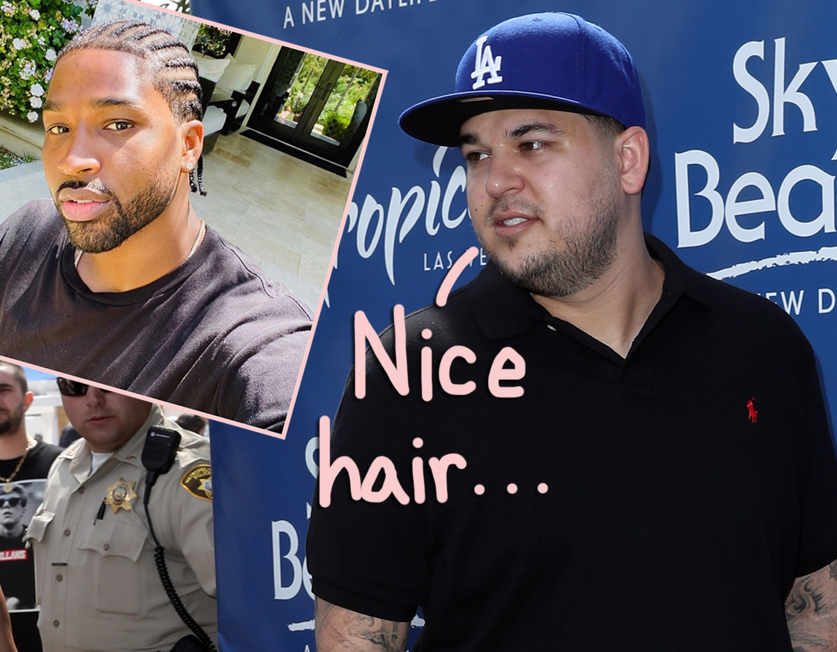 Rob Kardashian Trolls Tristan Thompson S New Look With Classic Reference Perez Hilton