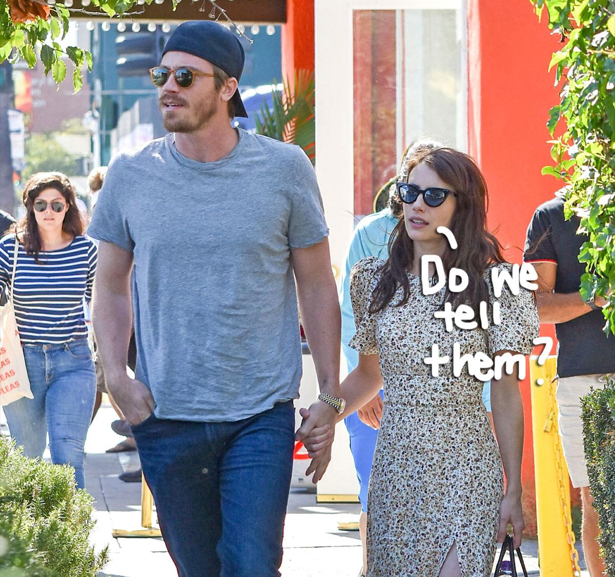 Emma Roberts Confirms Pregnancy Baby S Gender In New Photos With Bf Garrett Hedlund Perez Hilton