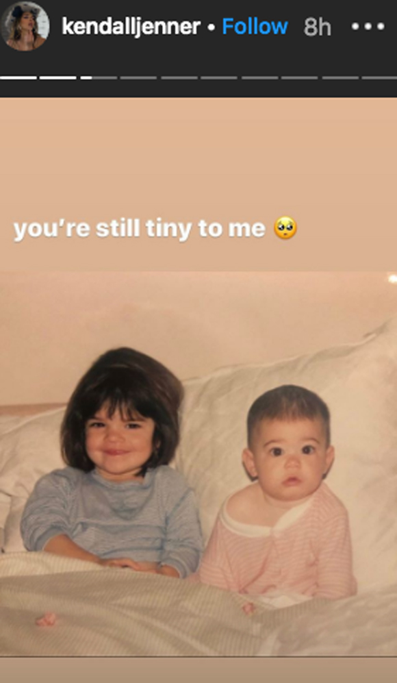Kendall Jenner wishes little sis Kylie a happy 23rd birthday!