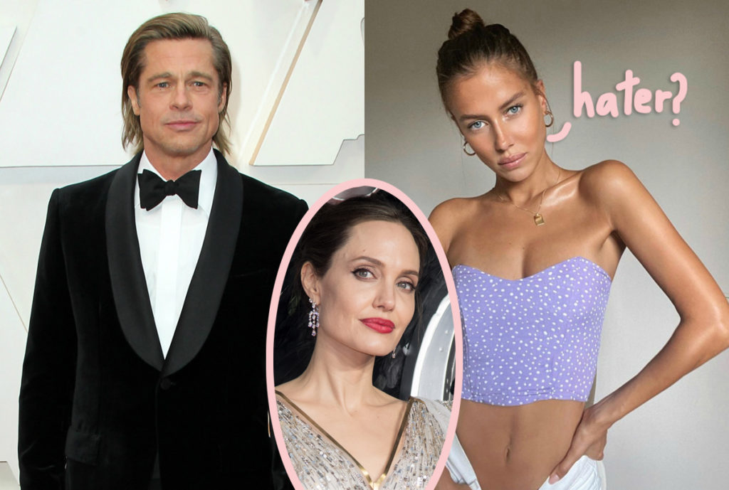 Brad Pitt S New Girlfriend Nicole Poturalski Has This To Say About His Ex Angelina Jolie Perez Hilton