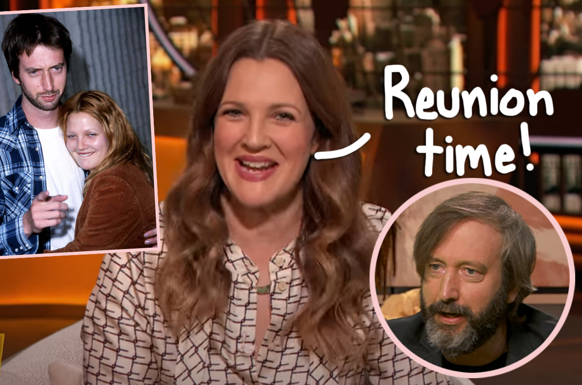 Yep, Drew Barrymore interviewed her ex-husband Tom Green on live TV
