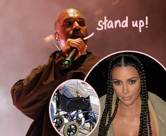 Kim Kardashian clarifies an incident involving a wheelchair-bound fan at one of Kanye West's concerts.